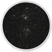 The Double Cluster Round Beach Towel