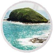 The Doughboys Island Landscape Round Beach Towel