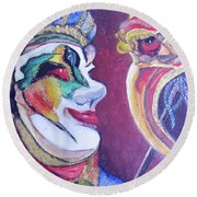 The Dr. Round Beach Towel by Teresa Beyer