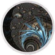 The Drama Between Earth And Sky Round Beach Towel