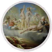 The Dream Of The Believer Round Beach Towel by Achille Zo
