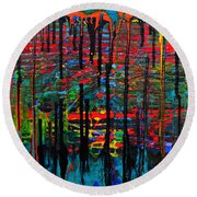 The Drip Round Beach Towel