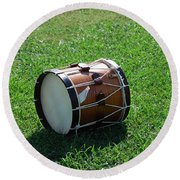 Round Beach Towel featuring the photograph The Drum by Eric Liller