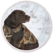 The Duck Dog Iv Round Beach Towel
