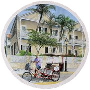 The Duval House, Key West, Florida Round Beach Towel