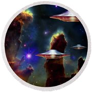 The  Eagle  Nebula  Round Beach Towel