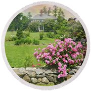 The East Lawn Round Beach Towel