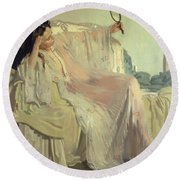 The Eastern Gown Round Beach Towel