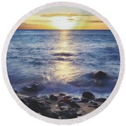 The Ebb And Flow Round Beach Towel