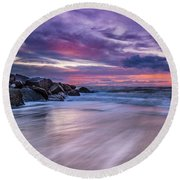 The Edge - Folly Beach, Sc Round Beach Towel