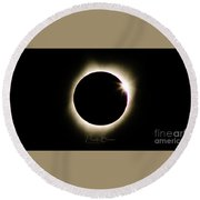 The Edge Of Totality 2 Round Beach Towel