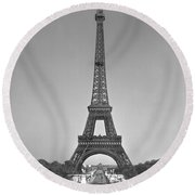 The Eiffel Tower Round Beach Towel