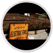 The Electric Fence Round Beach Towel by Bob Pardue
