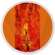 The Elements Fire #1 Round Beach Towel