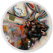 The Elk Round Beach Towel