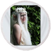 The Elven Queen Round Beach Towel