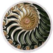 The Emerald Queen's Nautilus Round Beach Towel