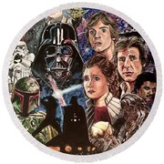 The Empire Strikes Back Round Beach Towel