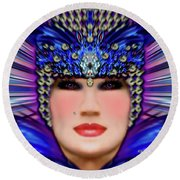 Round Beach Towel featuring the photograph The Empress Barbaka #192 by Barbara Tristan