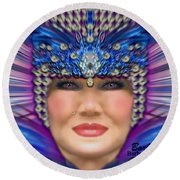 Round Beach Towel featuring the photograph The Empress by Barbara Tristan