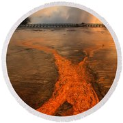 The Enchantment Of Grand Prismatic Spring Round Beach Towel