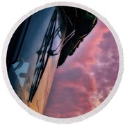 Round Beach Towel featuring the photograph The End Of A Long Day by Mark Dodd