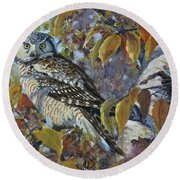 The End Of Autumn Round Beach Towel