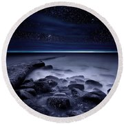 The End Of Darkness Round Beach Towel