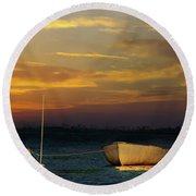 The End Of The Day Round Beach Towel