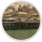 The End Of The Pier Show Round Beach Towel