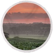 The English Landscape 2 Round Beach Towel