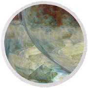 The Enigma Round Beach Towel by Linda Sannuti