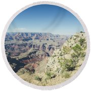Round Beach Towel featuring the photograph The Enormity Of It All by Margaret Pitcher