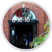 The Entrance At Ulele Round Beach Towel