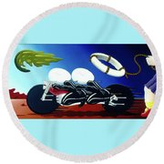 The Escape Round Beach Towel