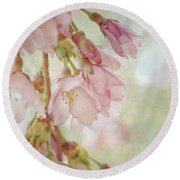 Round Beach Towel featuring the photograph The Essence Of Springtime  by Connie Handscomb