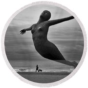 The Estranged Ocean Round Beach Towel