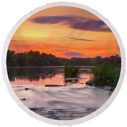 The Eve On The River Round Beach Towel