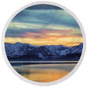 The Evening Colors Round Beach Towel