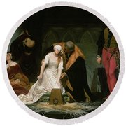 The Execution Of Lady Jane Grey Round Beach Towel by Hippolyte Delaroche