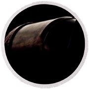 Round Beach Towel featuring the photograph The Exhaust by Paul Job