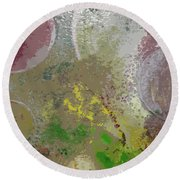 Round Beach Towel featuring the painting The Expanding Universe by Robert Margetts