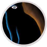 The Eye Have It Round Beach Towel by Salman Ravish