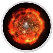The Eye Of Cyma - Fire And Ice - Frame 146 Round Beach Towel