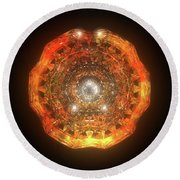 The Eye Of Cyma - Fire And Ice - Frame 160 Round Beach Towel