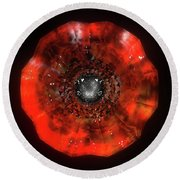 The Eye Of Cyma - Fire And Ice - Frame 40 Round Beach Towel