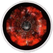 The Eye Of Cyma - Fire And Ice - Frame 45 Round Beach Towel