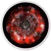 The Eye Of Cyma - Fire And Ice - Frame 49 Round Beach Towel