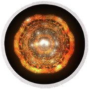 The Eye Of Cyma - Fire And Ice - Frame 7 Round Beach Towel