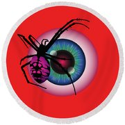 The Eye Of Fear Round Beach Towel